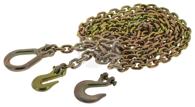 Hulk 4X4 Drag Chain 8000kg with 3 hooks - Motorbike Parts NZ - Tail